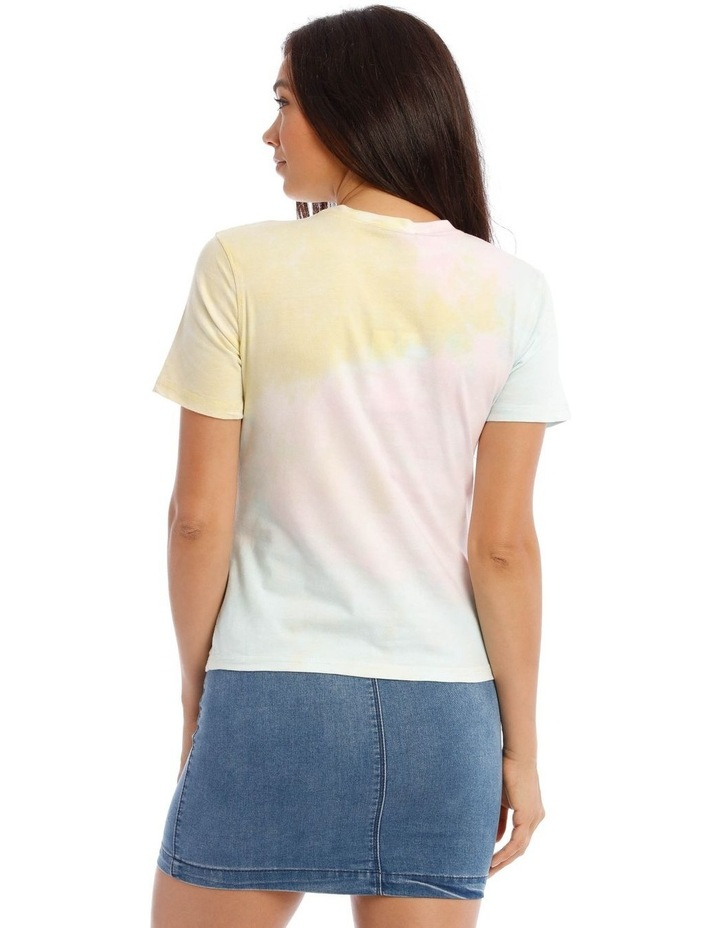Tie Dye Embroidery Fitted T/Shirt image 3