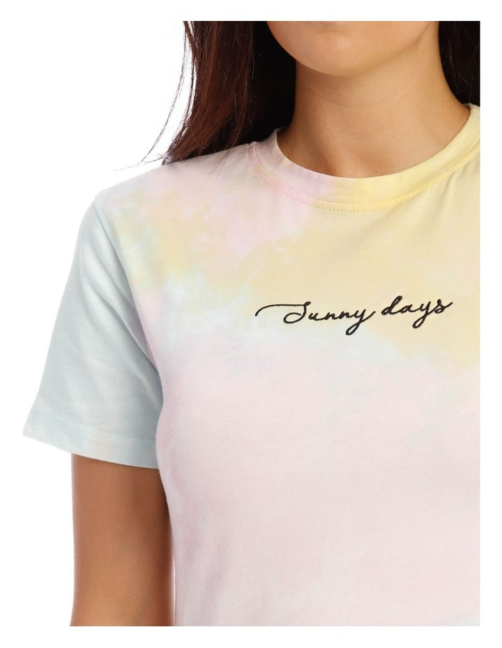 Tie Dye Embroidery Fitted T/Shirt image 4