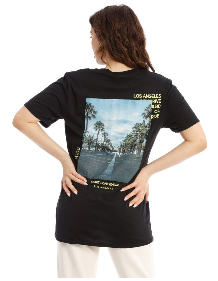 La Palm Back Graphic Oversized Tee image 1