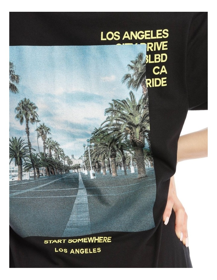 La Palm Back Graphic Oversized Tee image 4