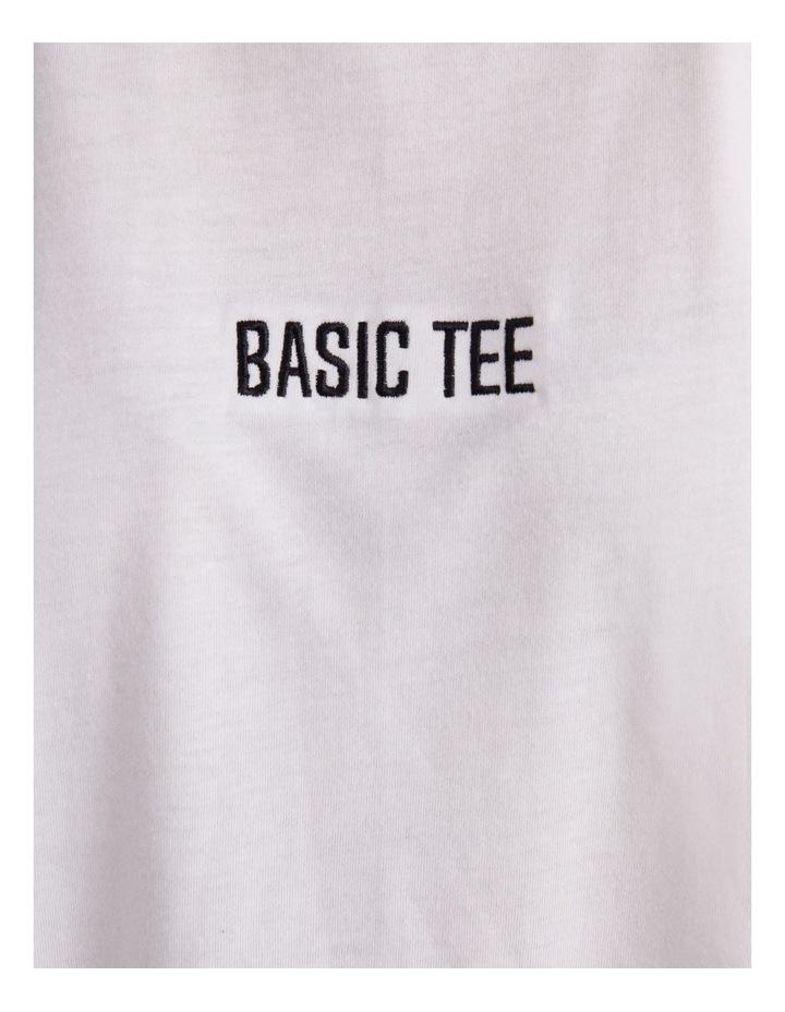 Basic Embroidery Drop Shoulder Oversized T-shirt image 5