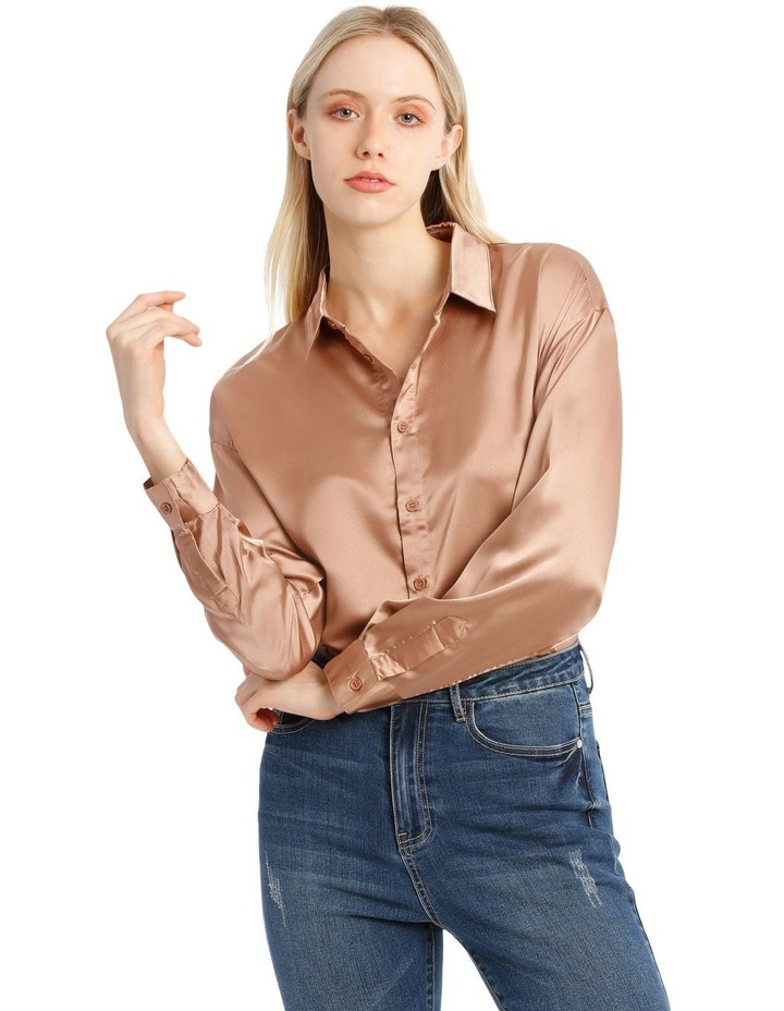 Oversized Satin Shirt image 1