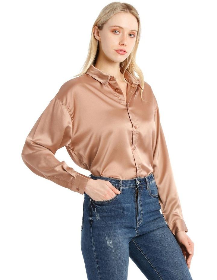 Oversized Satin Shirt image 2