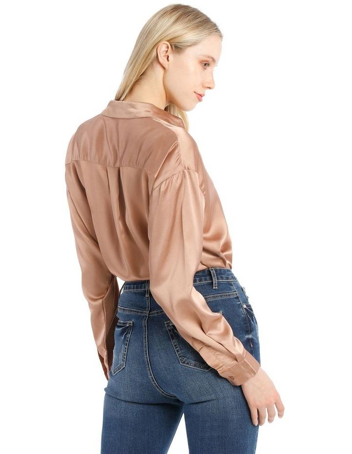 Oversized Satin Shirt image 3