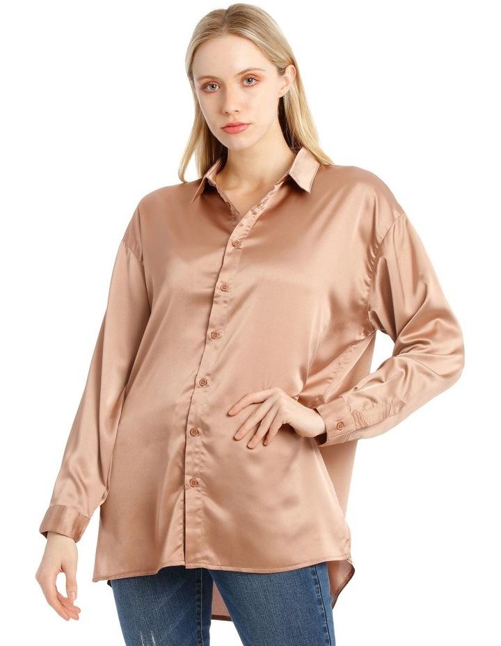 Oversized Satin Shirt image 5