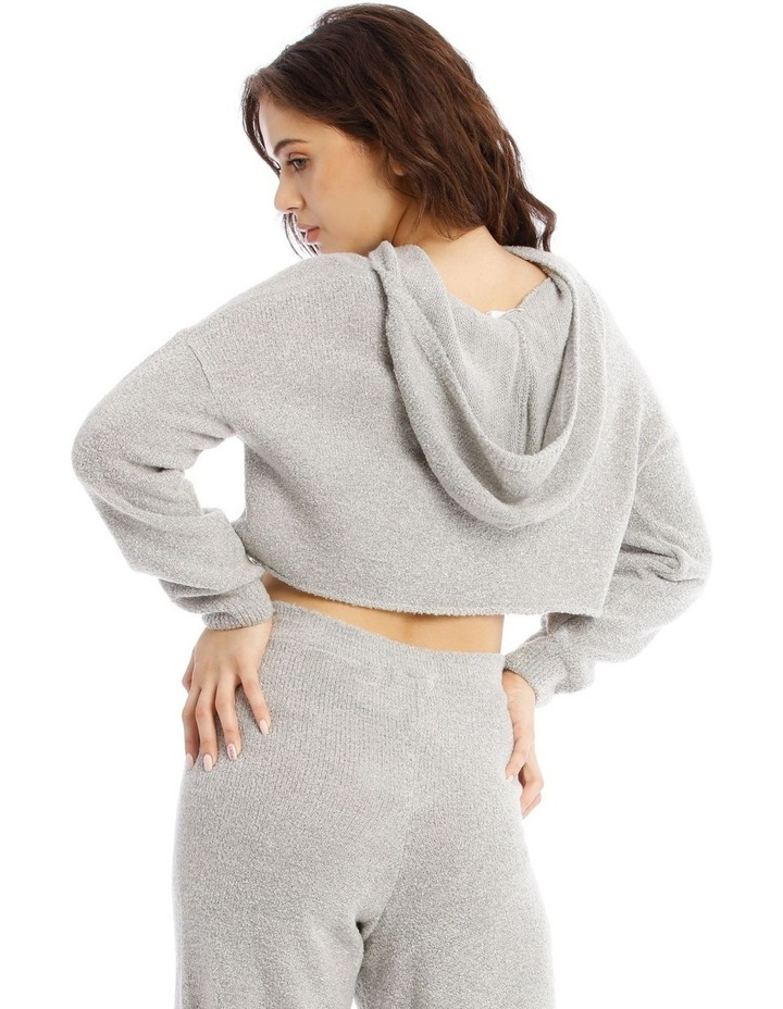 Boucle Cropped Hoodie Co-Ord image 3