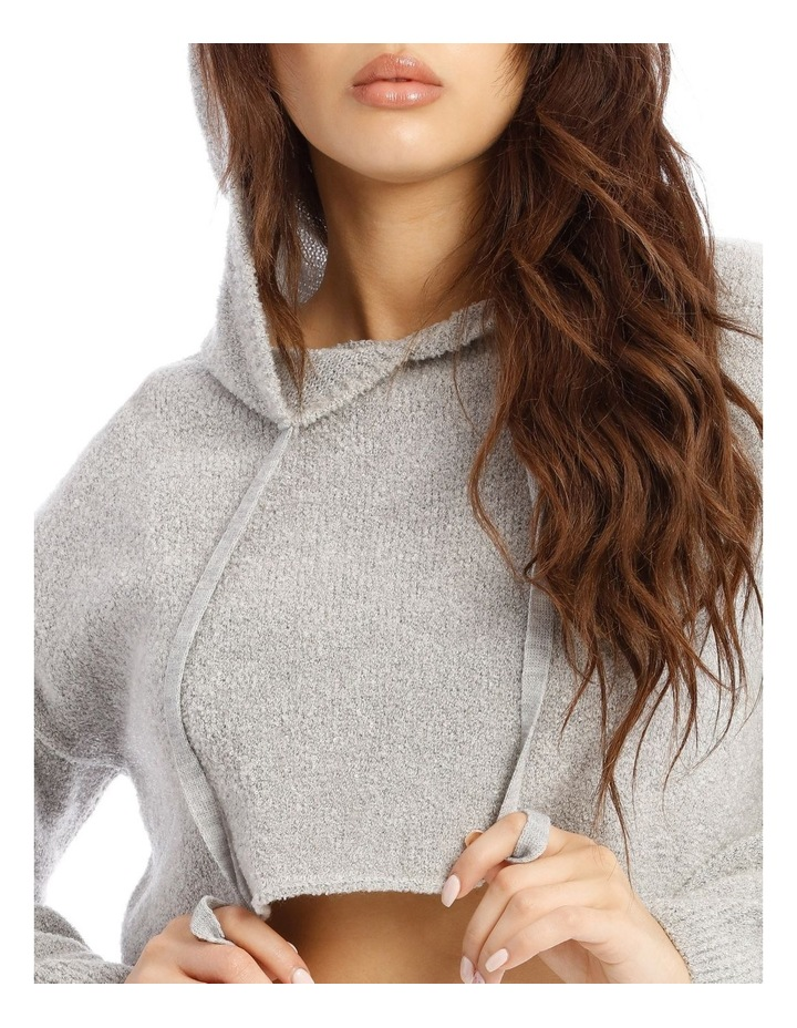 Boucle Cropped Hoodie Co-Ord image 5