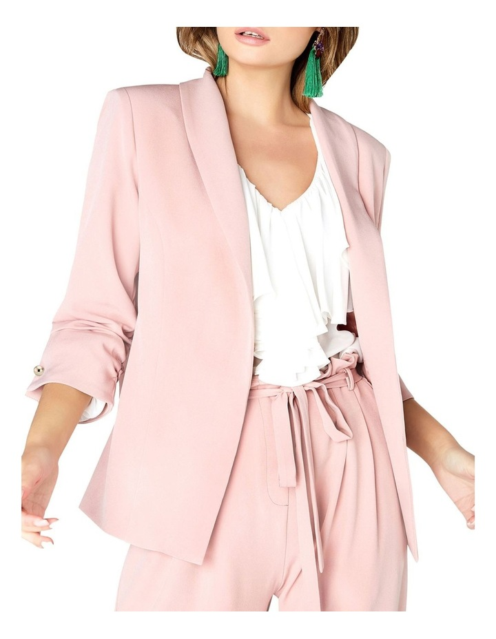 RUCHED SLEEVED DETAIL TAILORED BLAZER JACKET image 1