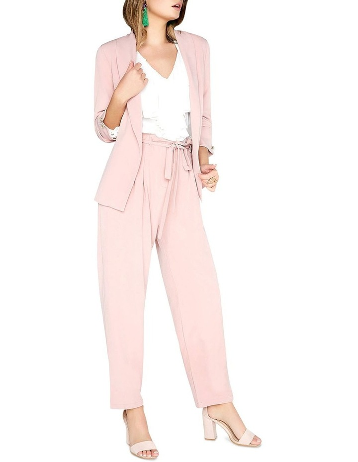 Ruched Sleeved Detail Tailored Blazer Jacket image 3