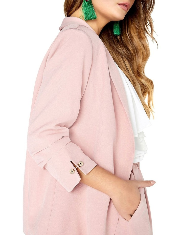 RUCHED SLEEVED DETAIL TAILORED BLAZER JACKET image 4