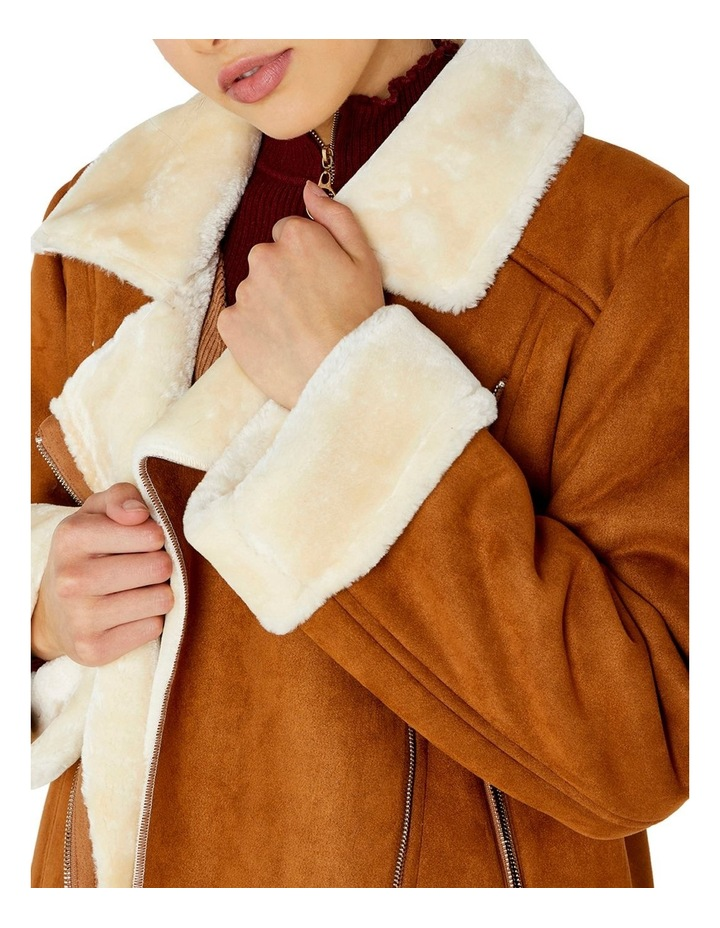 FUR LINED AVIATOR JACKET image 4