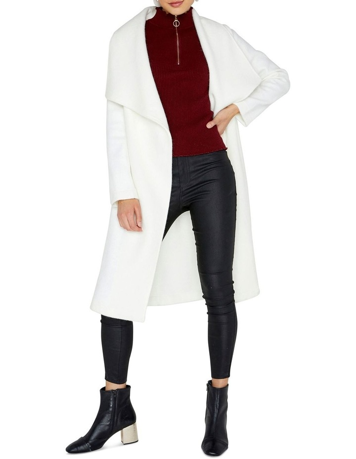 Soft Touch Wrap Over Style Coat image 1