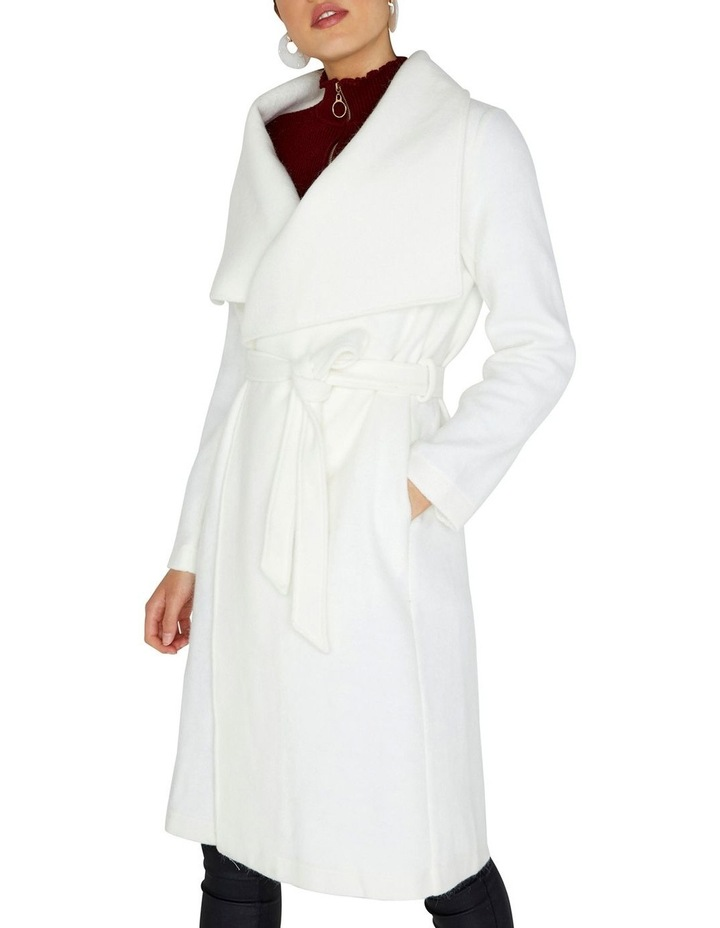 Soft Touch Wrap Over Style Coat image 3