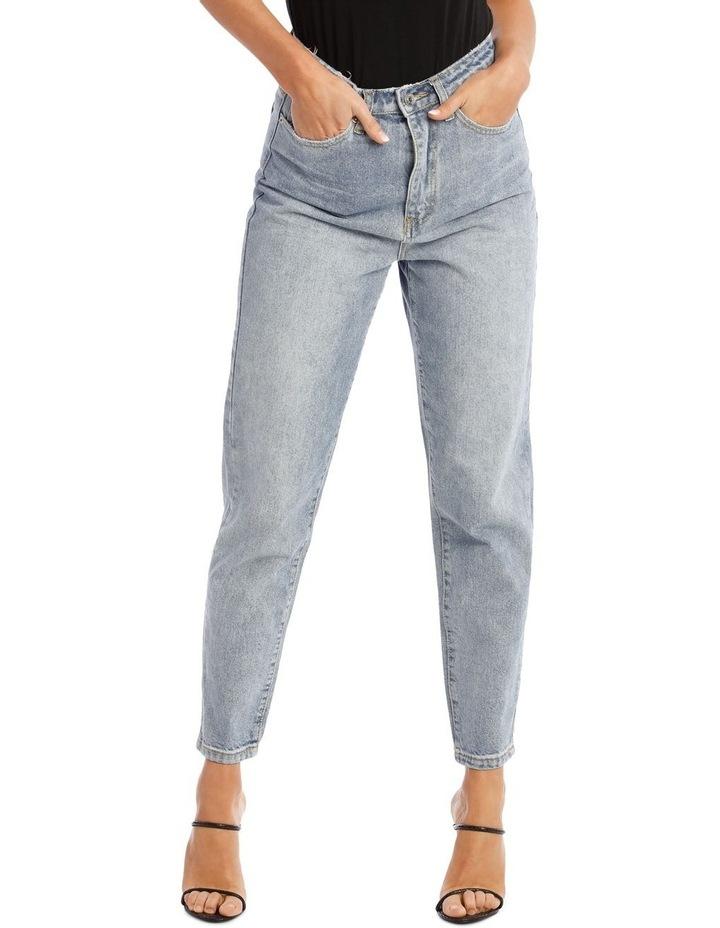 Blue Riot High Rise Clean Lightwash Mom Jeans image 1