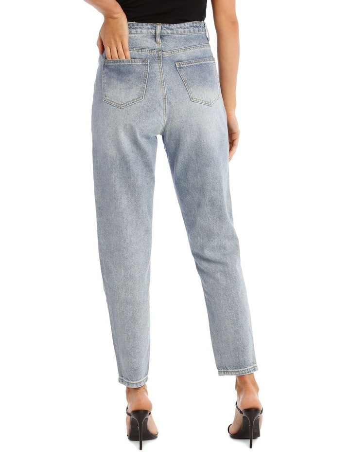 Blue Riot High Rise Clean Lightwash Mom Jeans image 3
