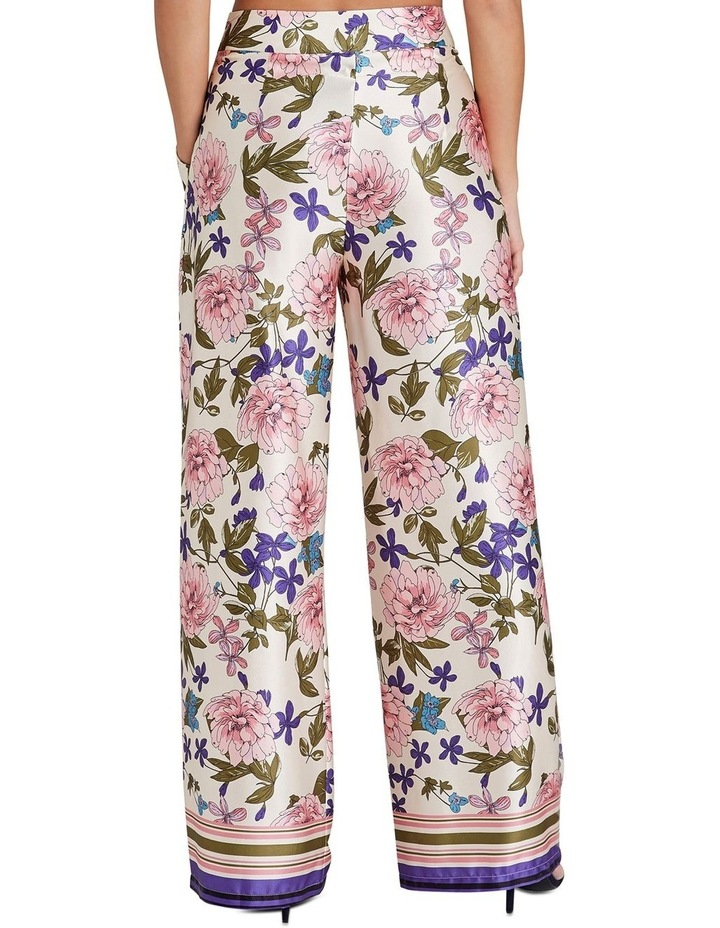 BORDER FLORAL PRINTED WIDE LEG TROUSERS WITH ZIP FASTEN image 2