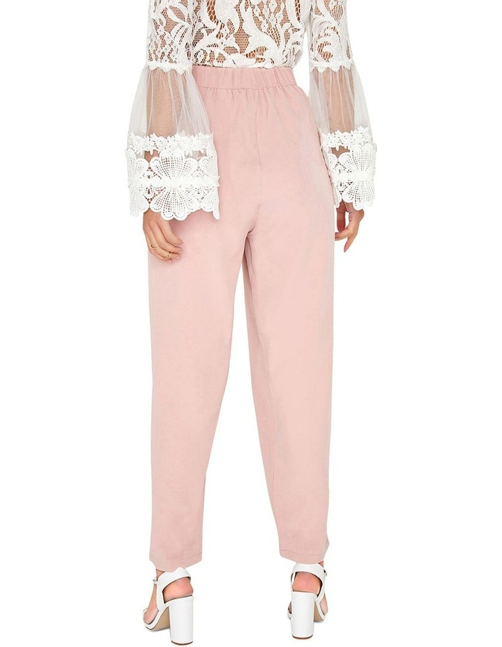 DUSTY PINK TAPERED TROUSERS WITH SELF-TIE WAIST BELT. image 2