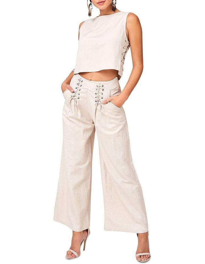 Lace Up Linen Pants image 1