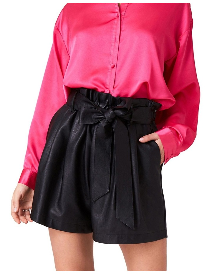 PAPERBAG SHORTS IN FAUX LEATHER image 1
