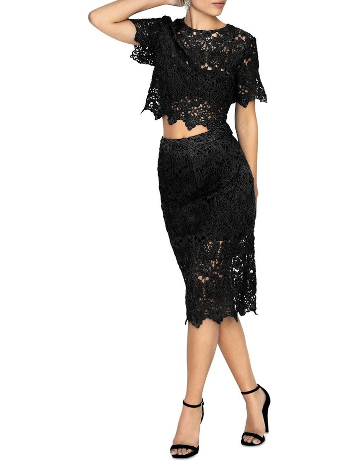 KNEE-LENGTH PENCIL SKIRT IN CROCHET LACE image 1