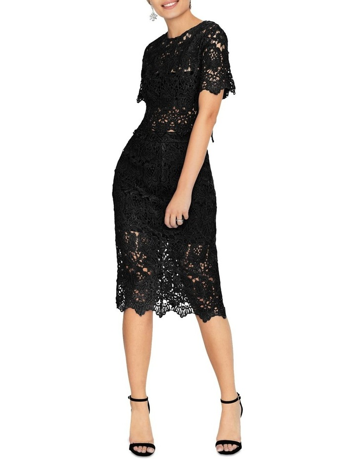KNEE-LENGTH PENCIL SKIRT IN CROCHET LACE image 3