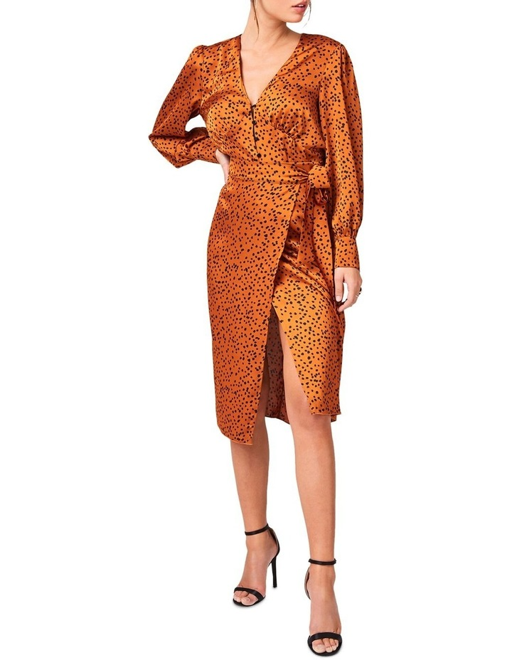 Clement Rust Animal-Print Midi Skirt image 1