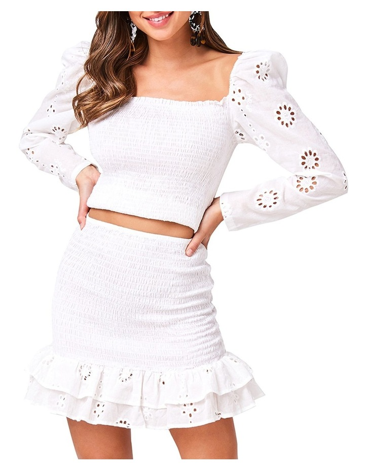 Ruched Frill Mini Skirt image 1