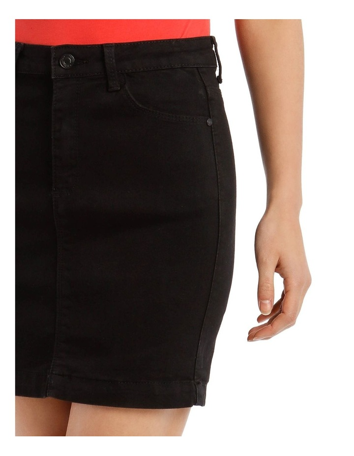 Black Denim Superstretch Mini Skirt image 4
