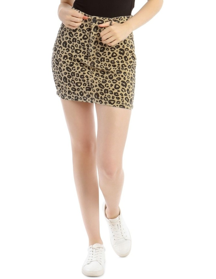 Leopard Cord A Link Skirt image 1