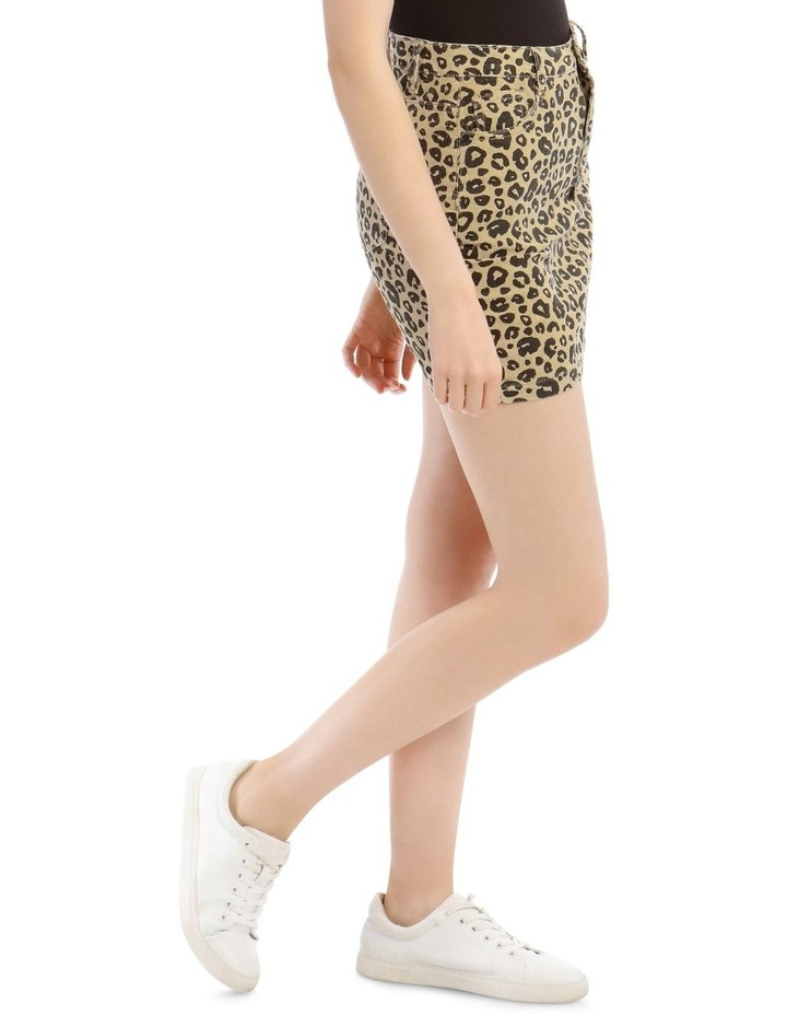Leopard Cord A Link Skirt image 2