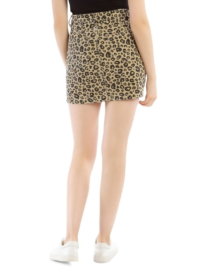 Leopard Cord A Link Skirt image 3