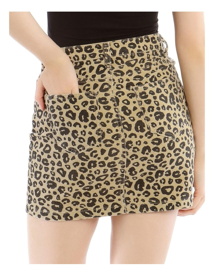Leopard Cord A Link Skirt image 4