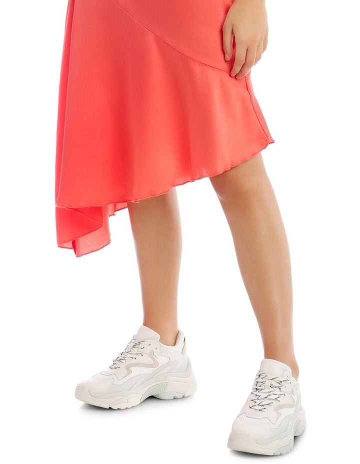 Satin Asymmetric Skirt Coral image 5
