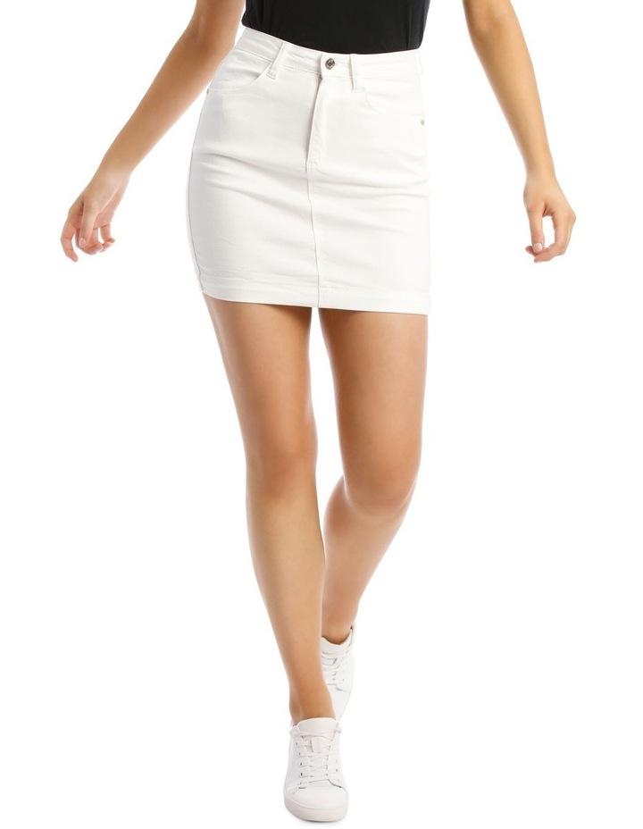 Denim Super Stretch Mini Skirt image 1
