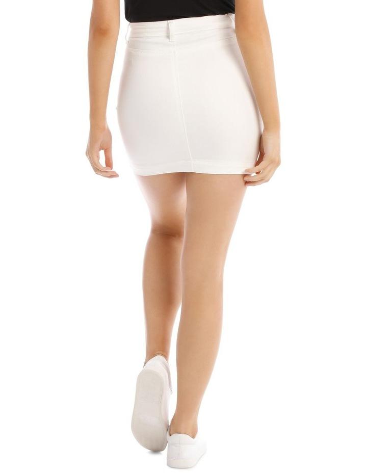 Denim Super Stretch Mini Skirt image 3