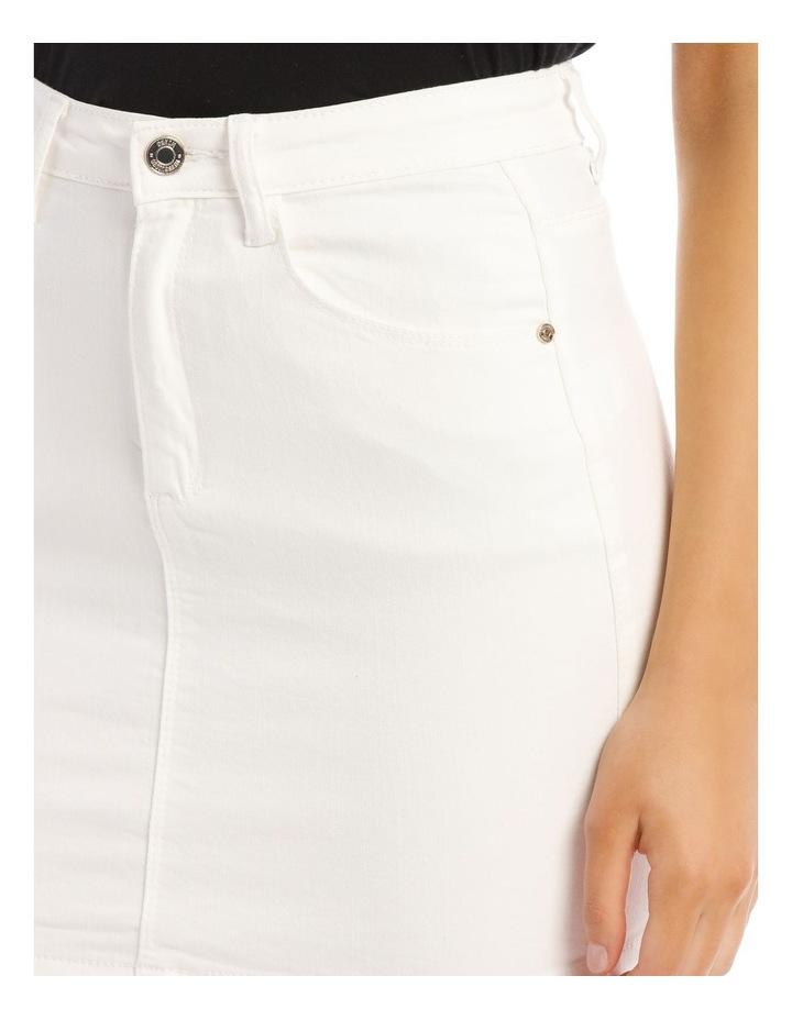 Denim Super Stretch Mini Skirt image 4