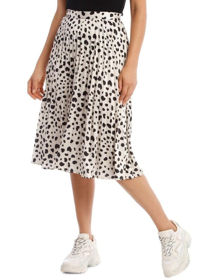 Irregular Print Pleated Midi Skirt image 1