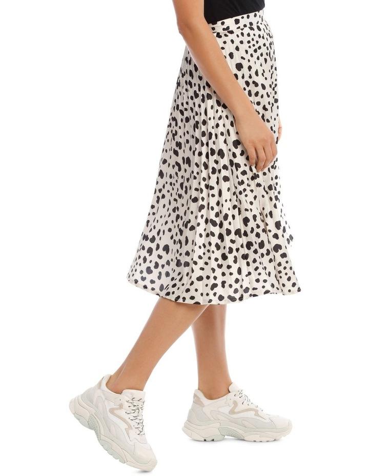 Irregular Print Pleated Midi Skirt image 2