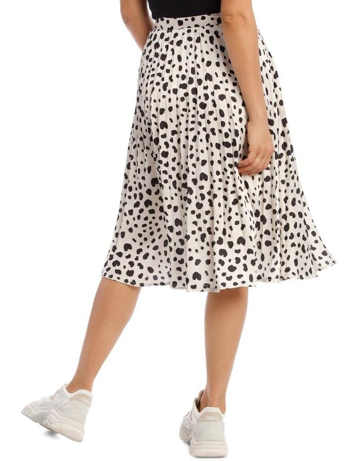 Irregular Print Pleated Midi Skirt image 3