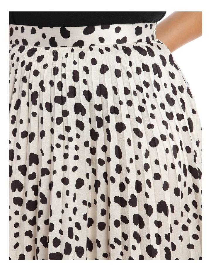 Irregular Print Pleated Midi Skirt image 4