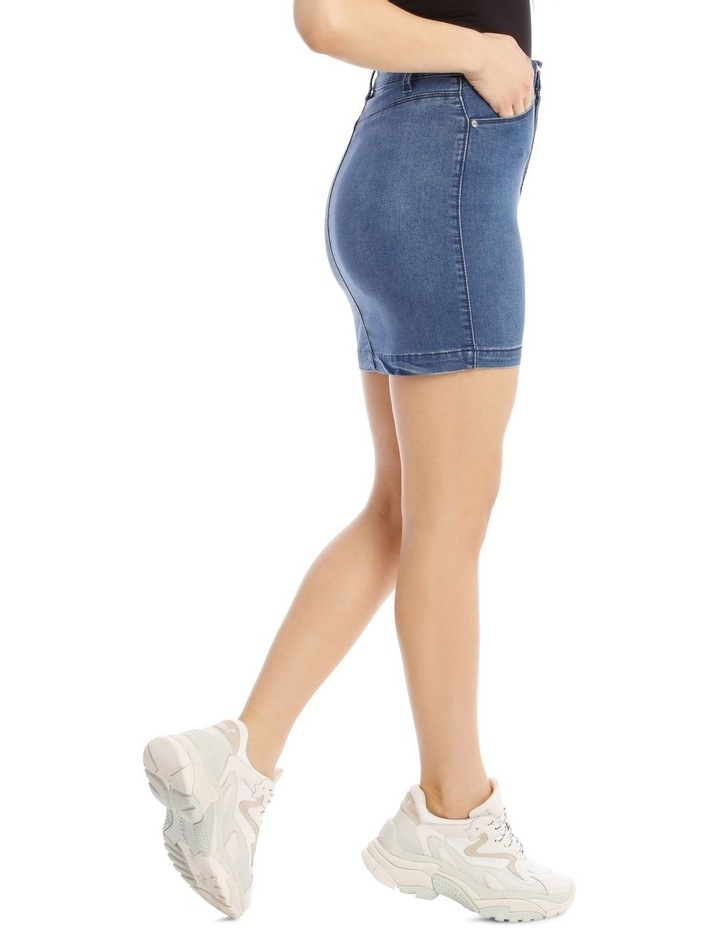 Superstretch Denim Mini Skirt image 2