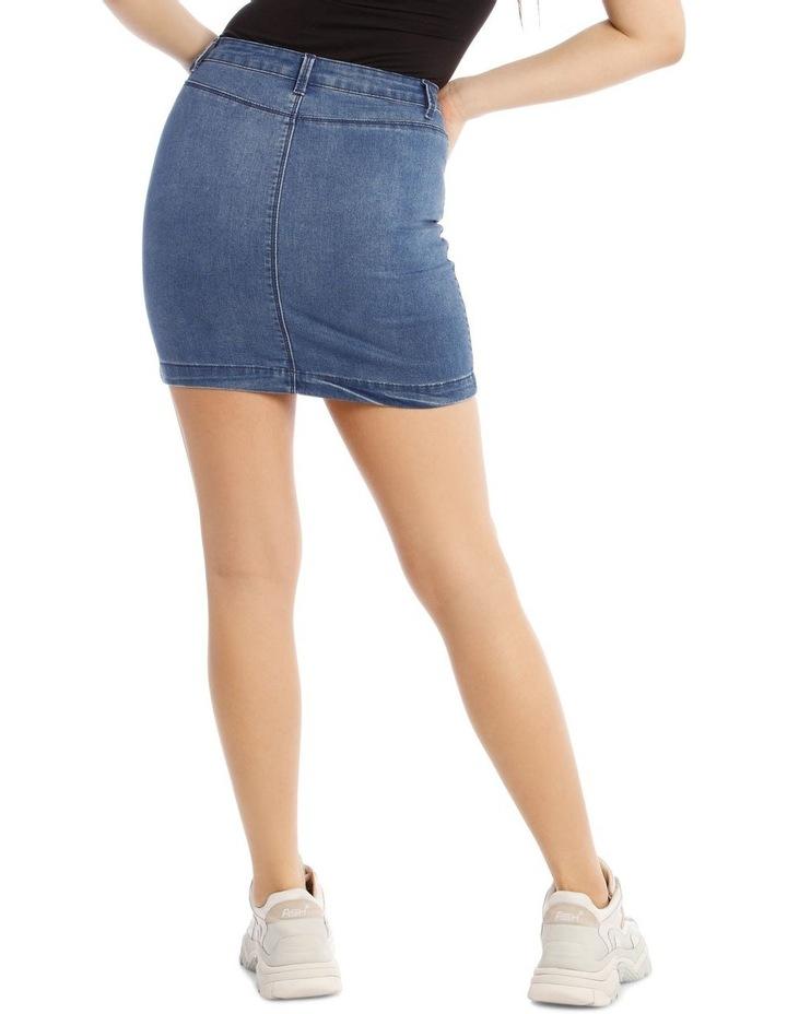 Superstretch Denim Mini Skirt image 3