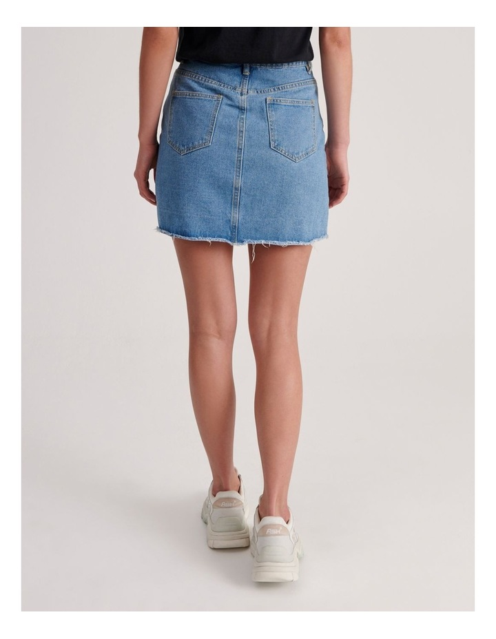 Ripped Denim Aline Skirt image 3
