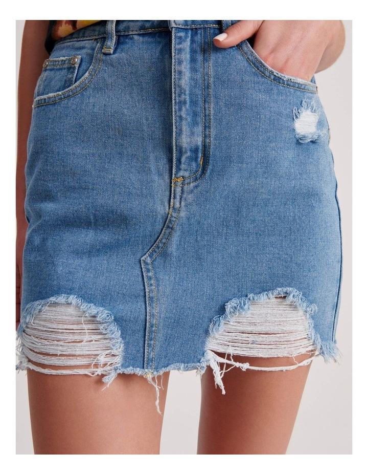 Ripped Denim Aline Skirt image 5