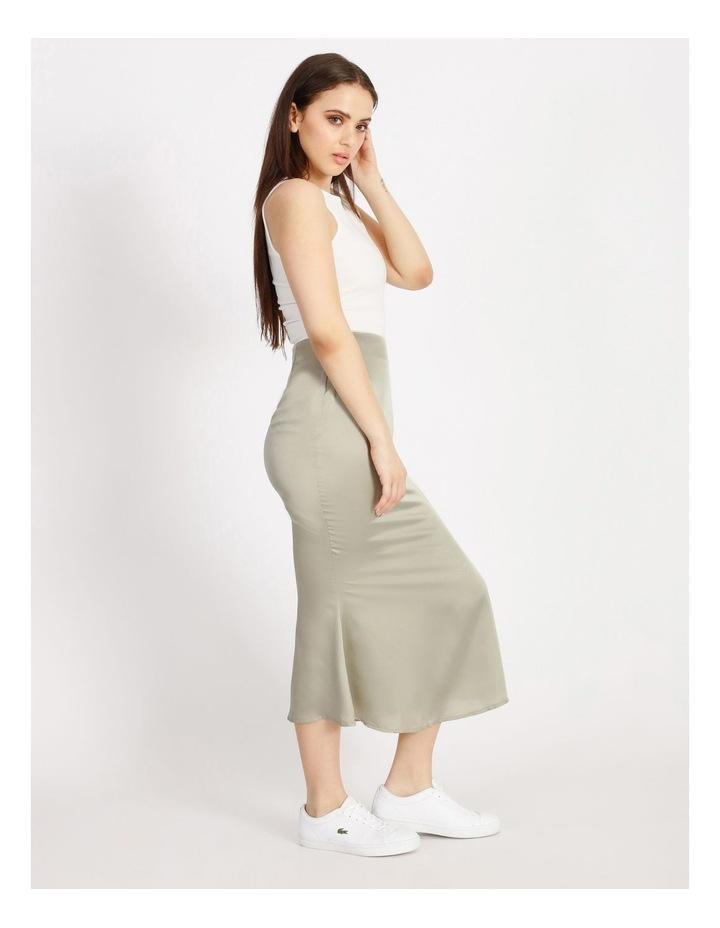 A Line Satin Slip Midi Skirt image 2