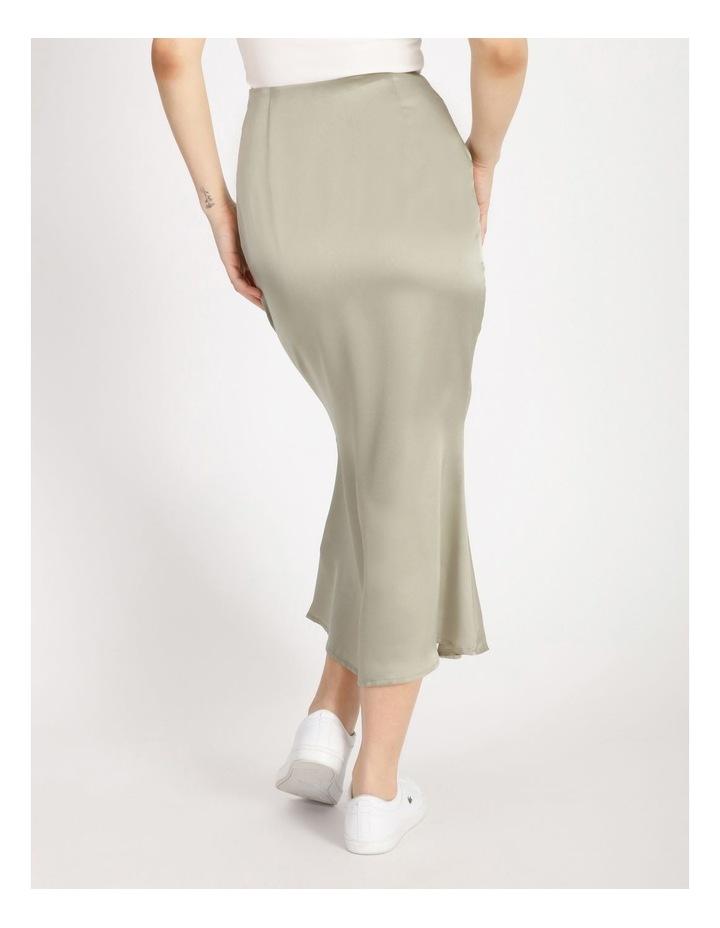 A Line Satin Slip Midi Skirt image 3