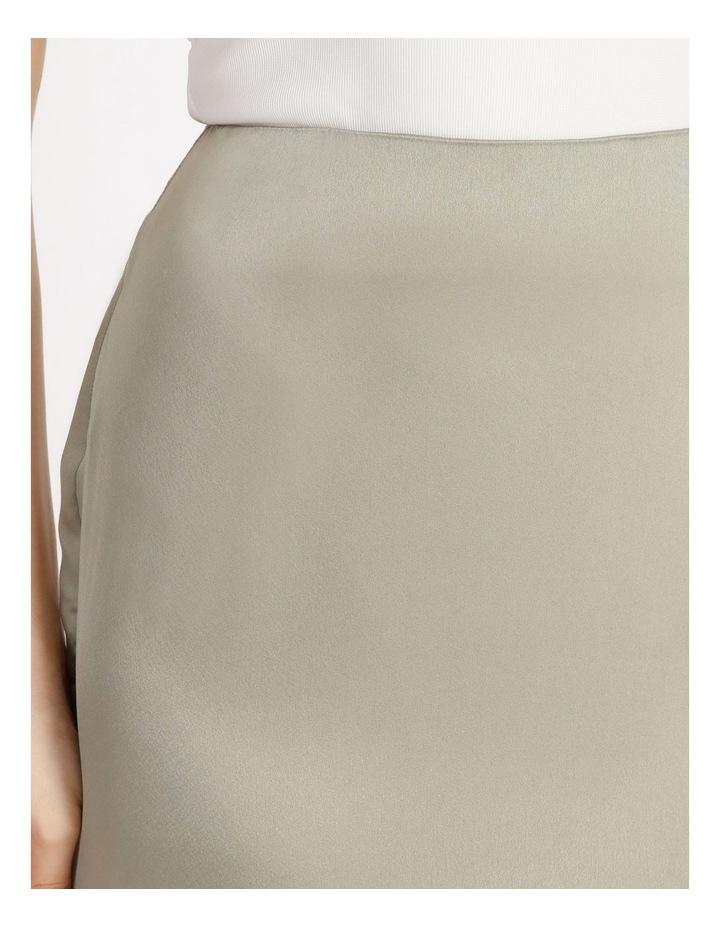 A Line Satin Slip Midi Skirt image 4