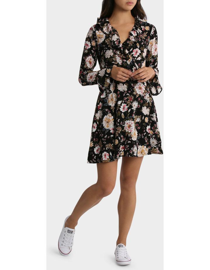 Long Sleeve Ruffle Dress image 1