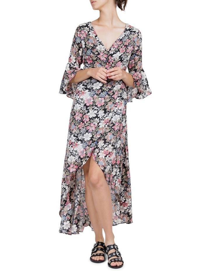 Vintage Floral Wrap Maxi Dress image 1