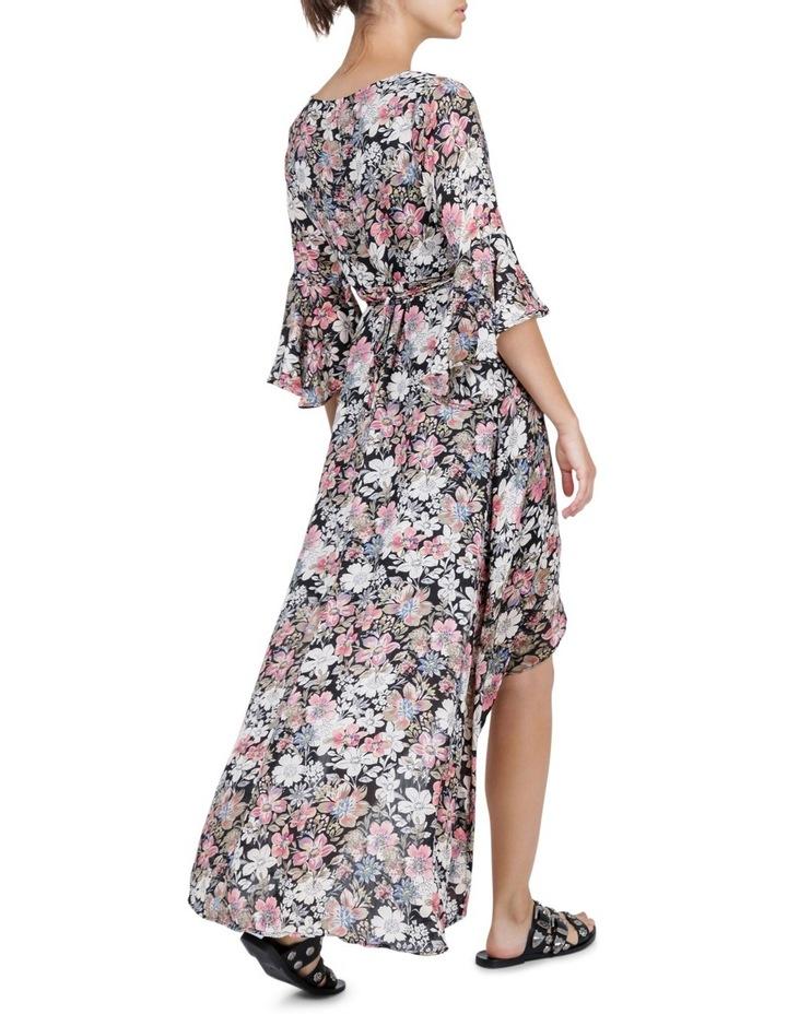 Vintage Floral Wrap Maxi Dress image 2